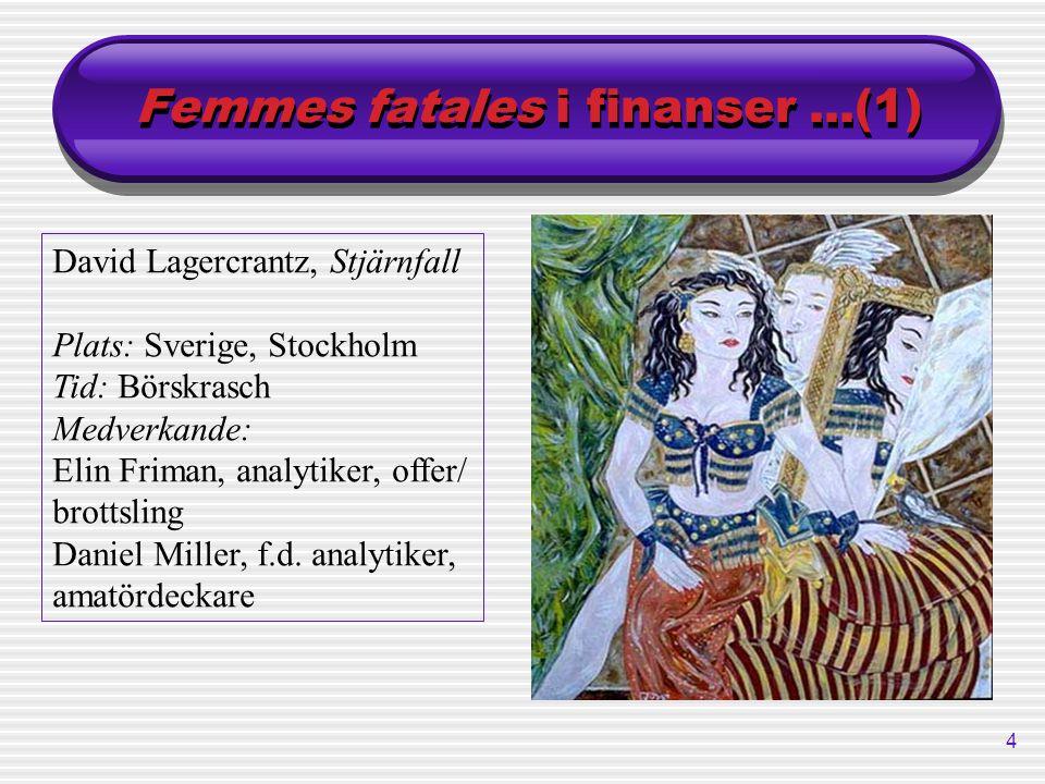Femmes fatales i finanser ...(1)