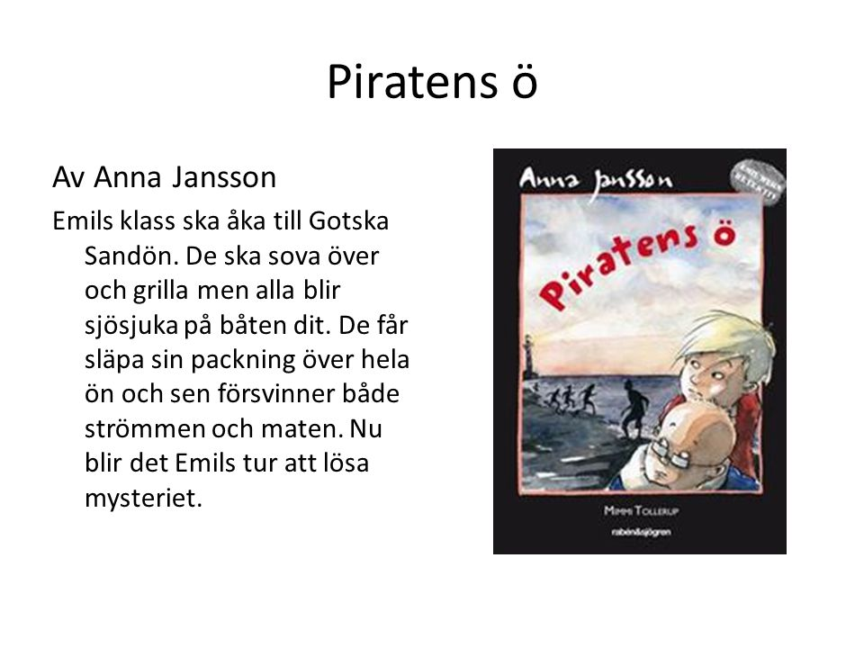 Piratens ö Av Anna Jansson
