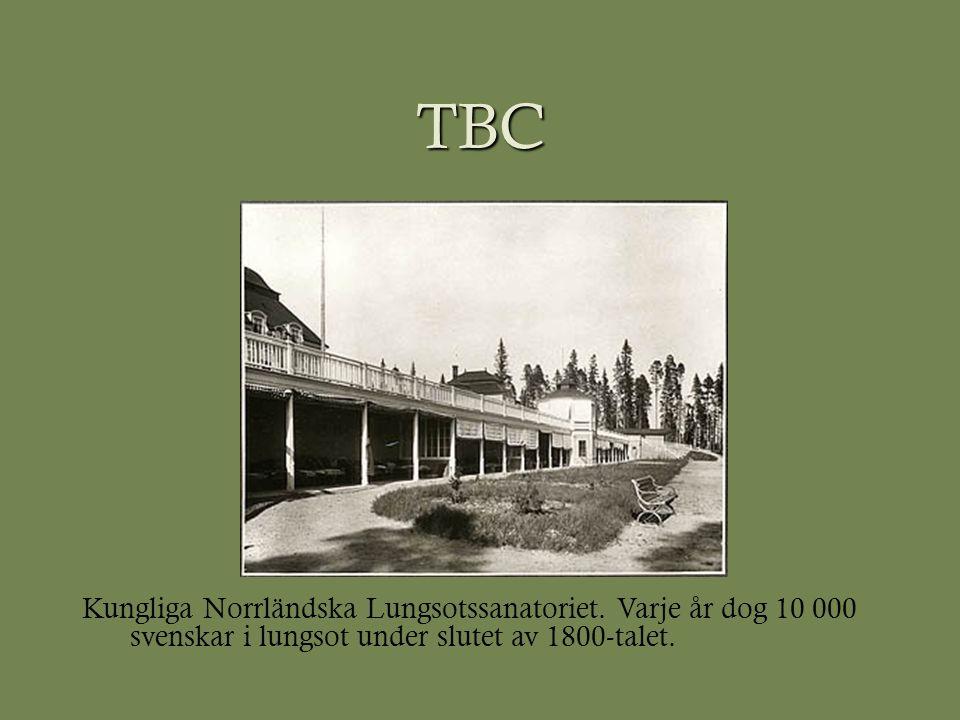 TBC Kungliga Norrländska Lungsotssanatoriet.