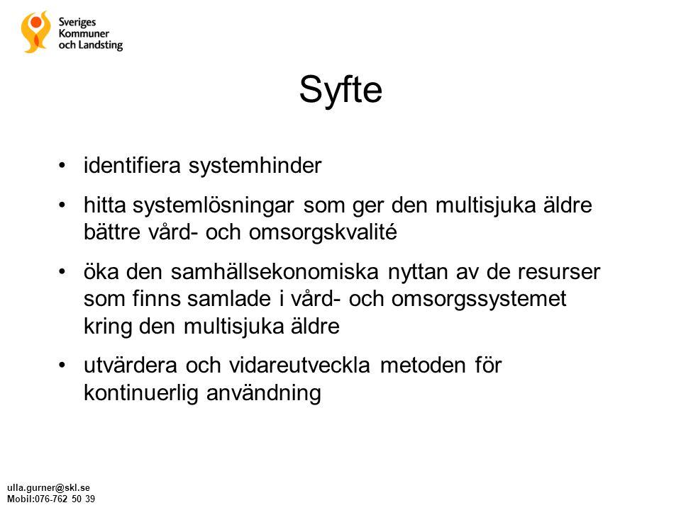 Syfte identifiera systemhinder