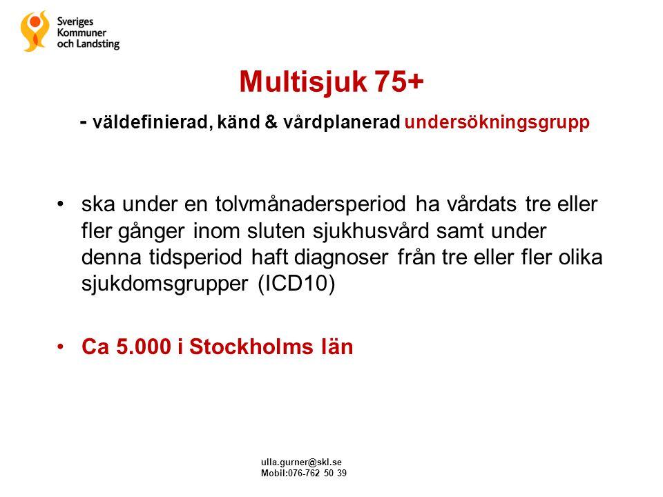 Multisjuk 75+ - väldefinierad, känd & vårdplanerad undersökningsgrupp