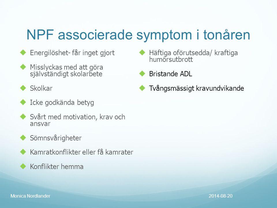 NPF associerade symptom i tonåren