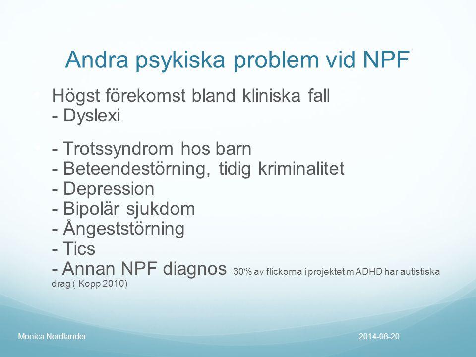 Andra psykiska problem vid NPF