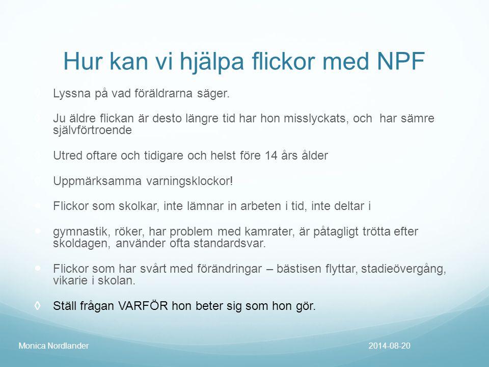 Hur kan vi hjälpa flickor med NPF