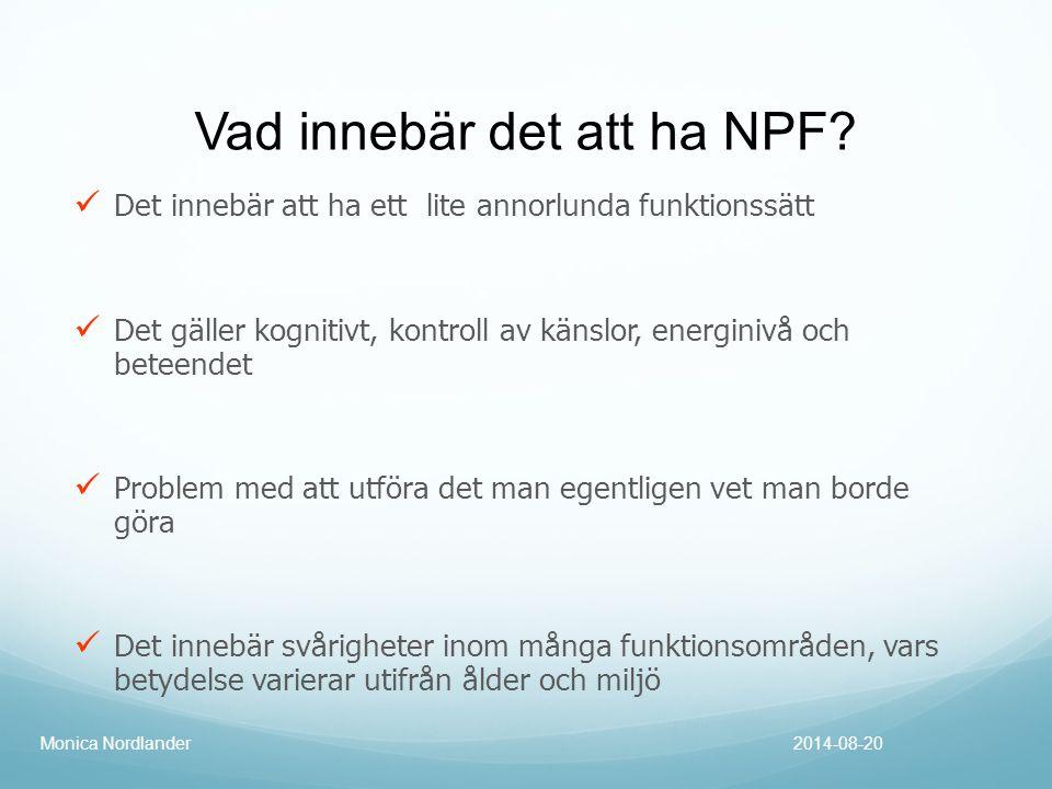 Vad innebär det att ha NPF