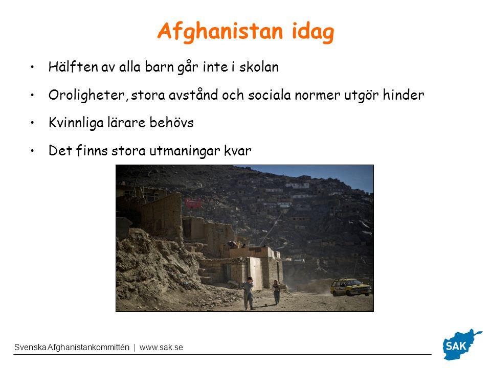 Afghanistan idag Hälften av alla barn går inte i skolan