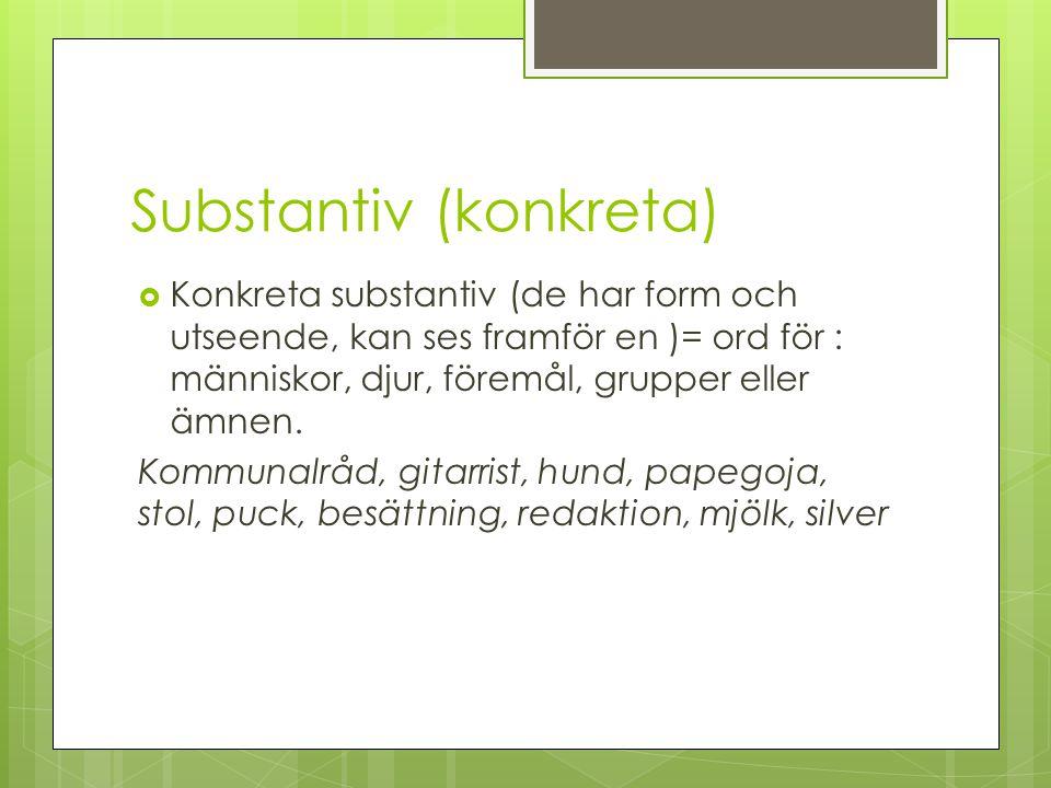 Substantiv (konkreta)