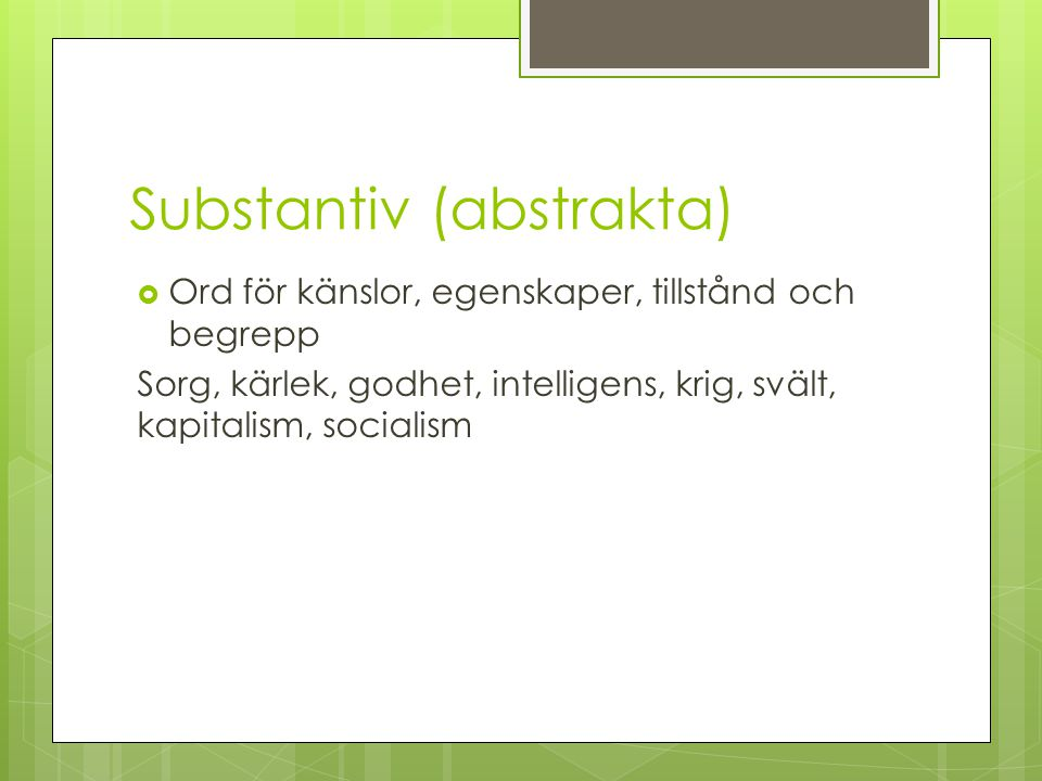 Substantiv (abstrakta)
