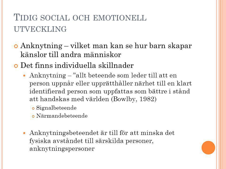 Tidig social och emotionell utveckling