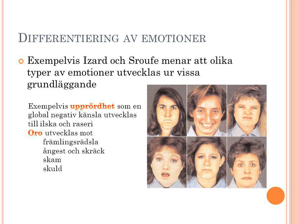Differentiering av emotioner