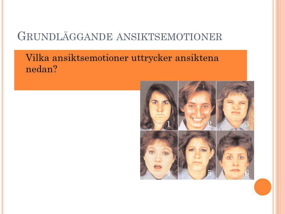 Grundläggande ansiktsemotioner