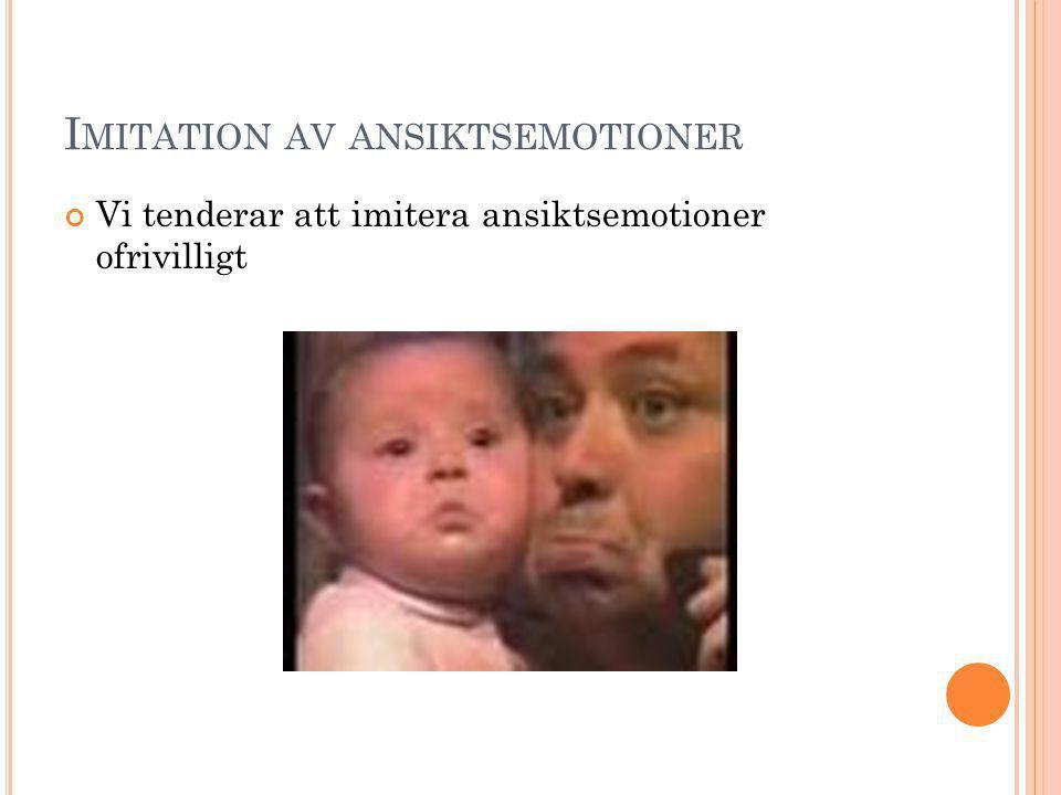 Imitation av ansiktsemotioner