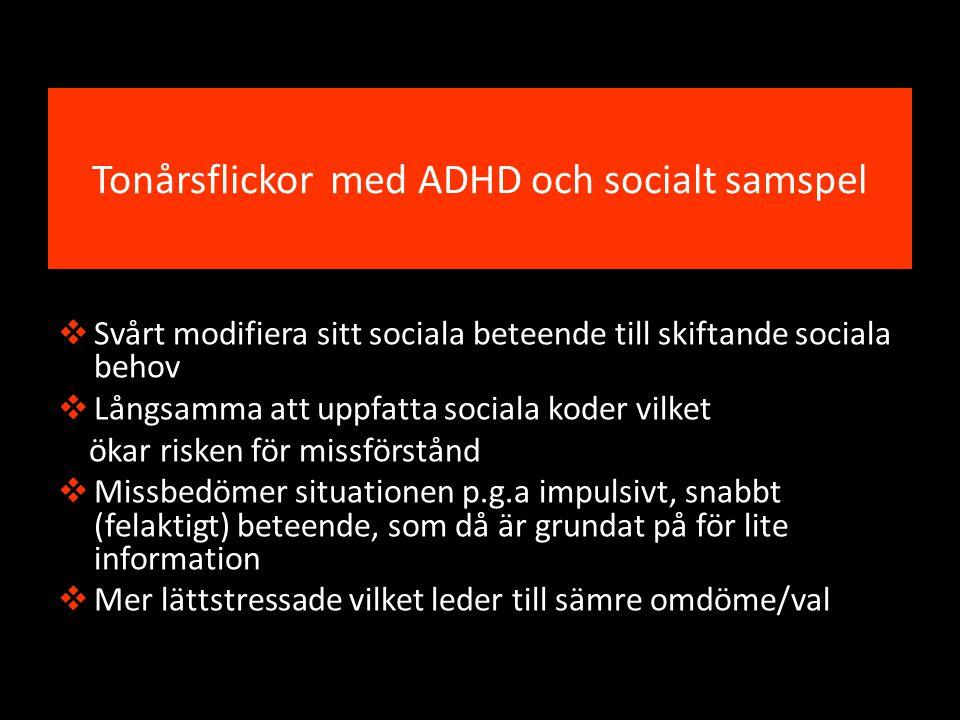 Tonårsflickor med ADHD och socialt samspel