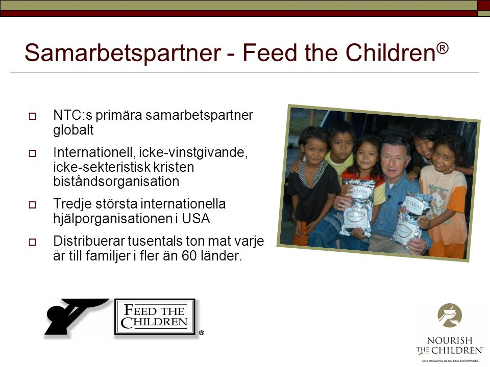 Samarbetspartner - Feed the Children®