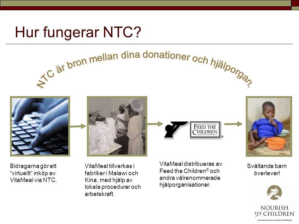 Hur fungerar NTC NTC är bron mellan dina donationer och hjälporgan.