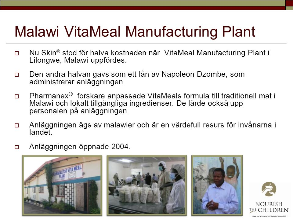 Malawi VitaMeal Manufacturing Plant