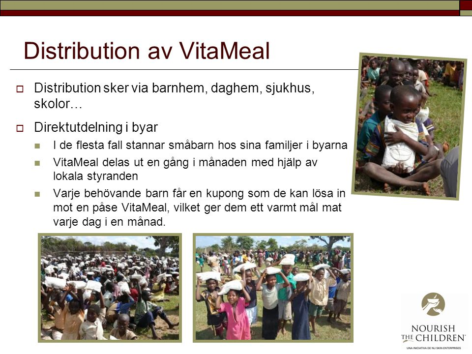 Distribution av VitaMeal