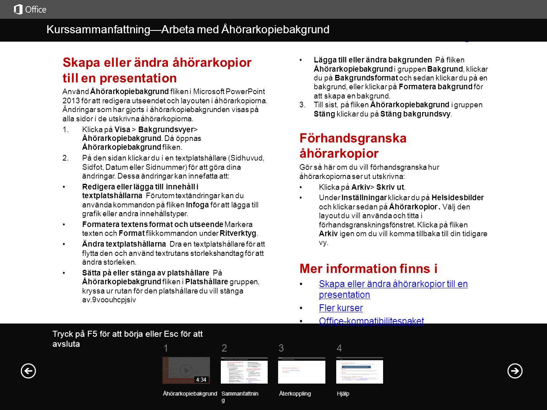 Skapa eller ändra åhörarkopior till en presentation