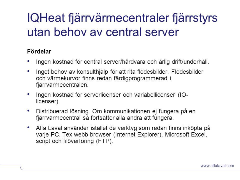 IQHeat fjärrvärmecentraler fjärrstyrs utan behov av central server