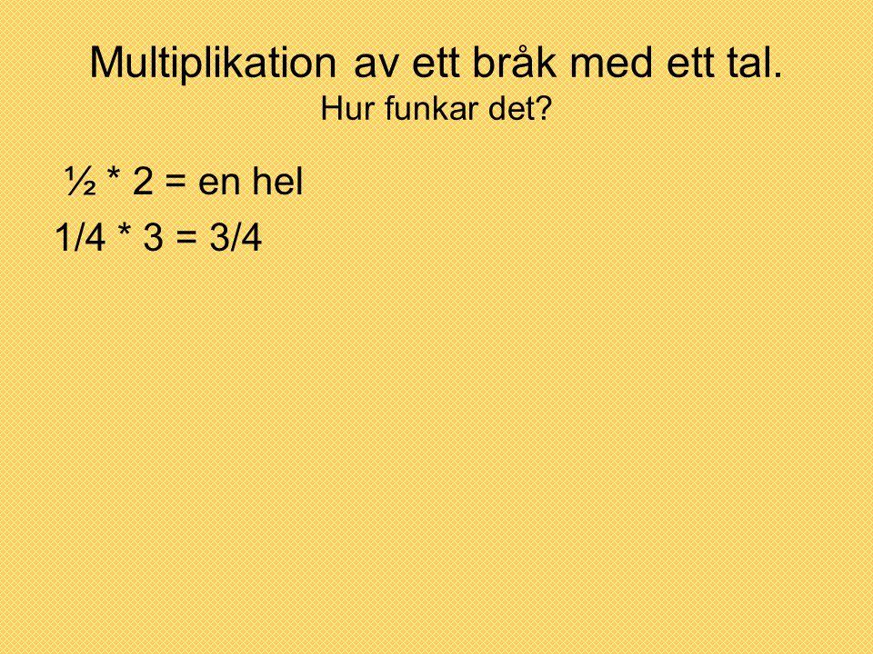 Multiplikation av ett bråk med ett tal. Hur funkar det