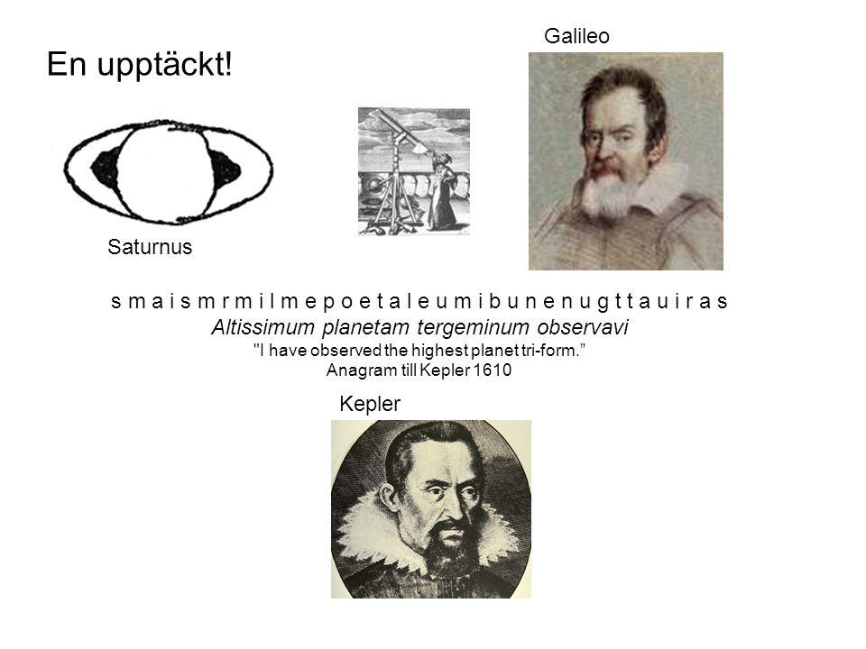 En upptäckt! Galileo Saturnus