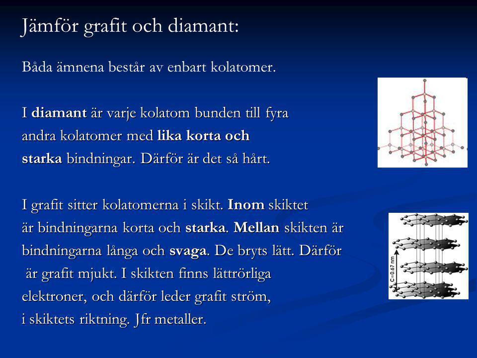 Jämför grafit och diamant: