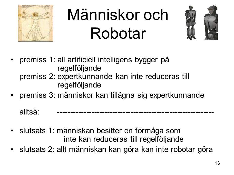 Människor och Robotar