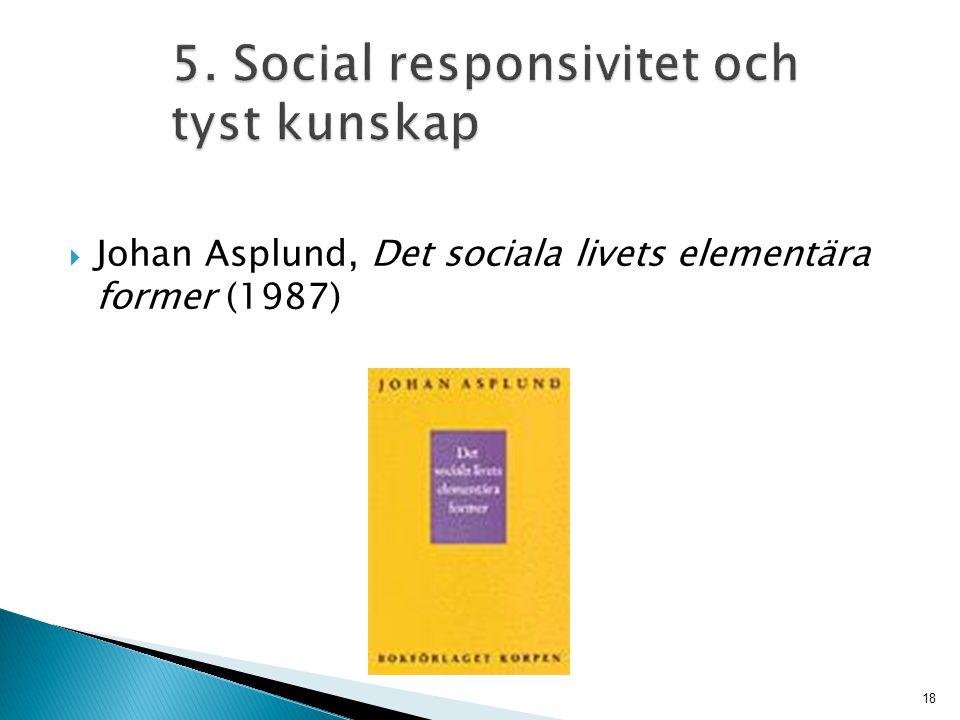 5. Social responsivitet och tyst kunskap