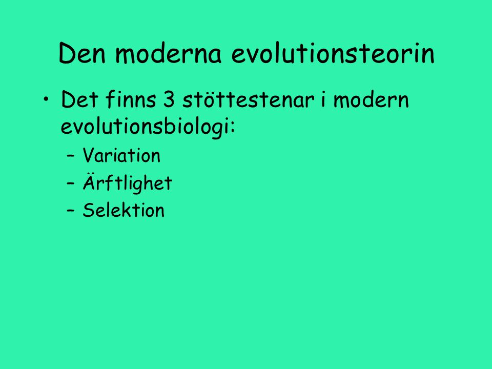 Den moderna evolutionsteorin