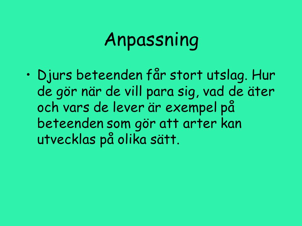 Anpassning