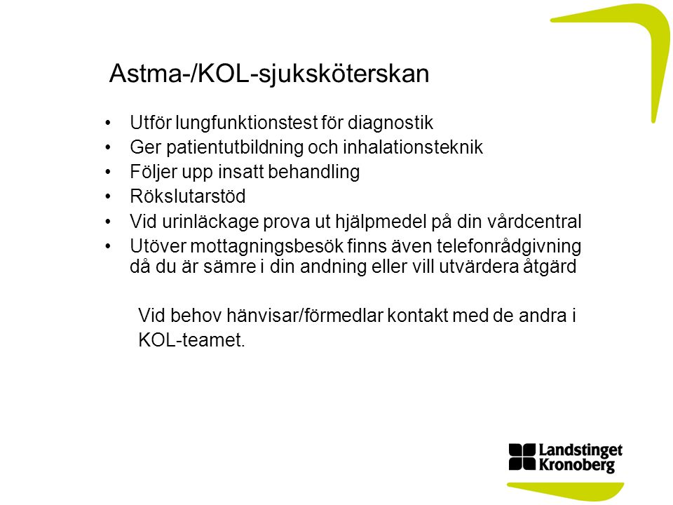 Astma-/KOL-sjuksköterskan