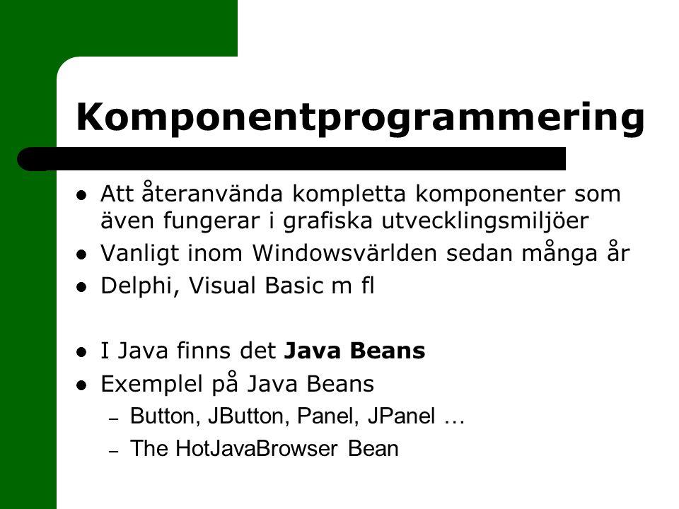 Komponentprogrammering