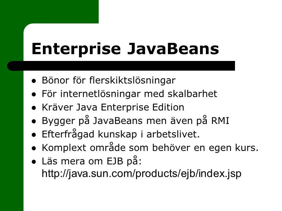 Enterprise JavaBeans Bönor för flerskiktslösningar