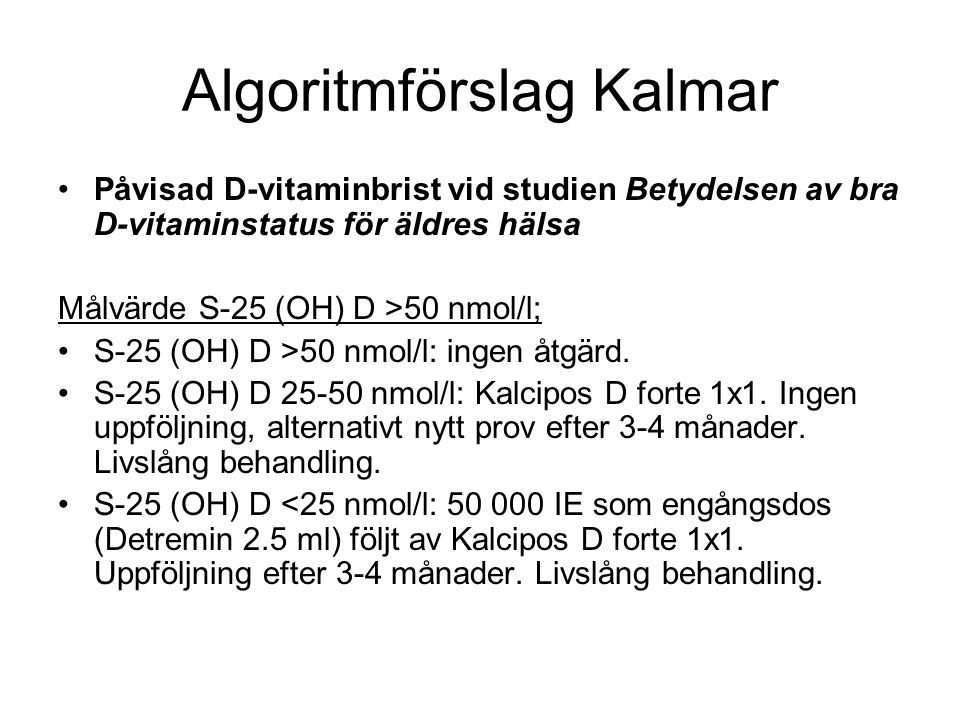Algoritmförslag Kalmar