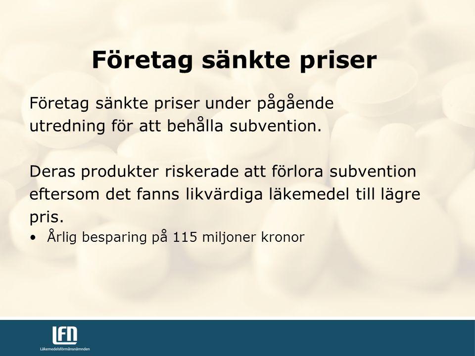 Företag sänkte priser Företag sänkte priser under pågående