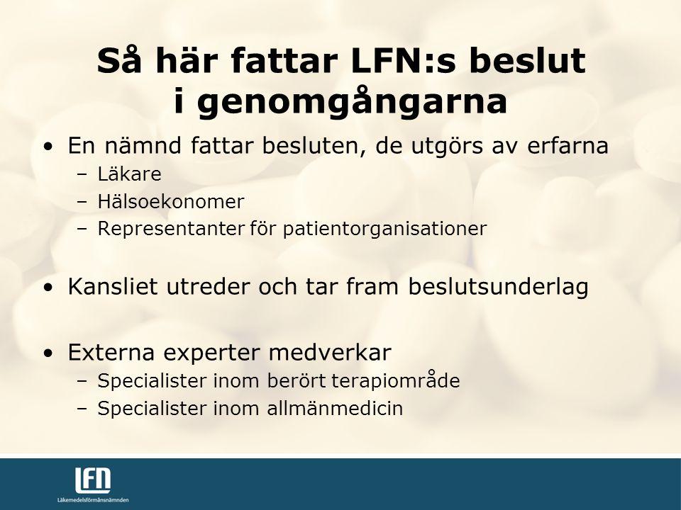 Så här fattar LFN:s beslut i genomgångarna