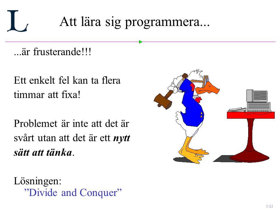 Att lära sig programmera...