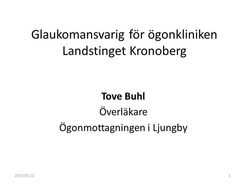 Glaukomansvarig för ögonkliniken Landstinget Kronoberg