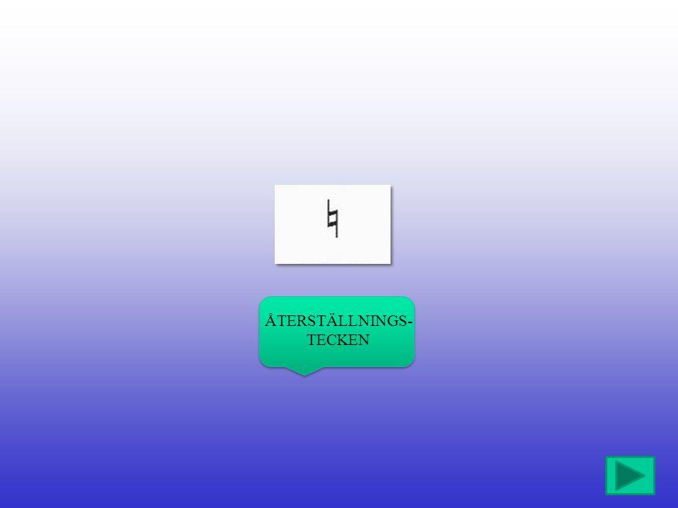 ÅTERSTÄLLNINGS-TECKEN