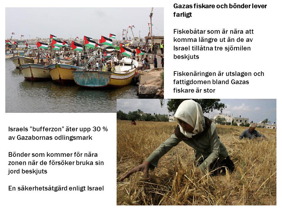 Gazas fiskare och bönder lever farligt
