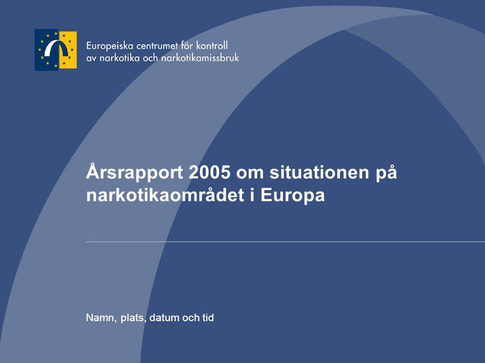 Årsrapport 2005 om situationen på narkotikaområdet i Europa
