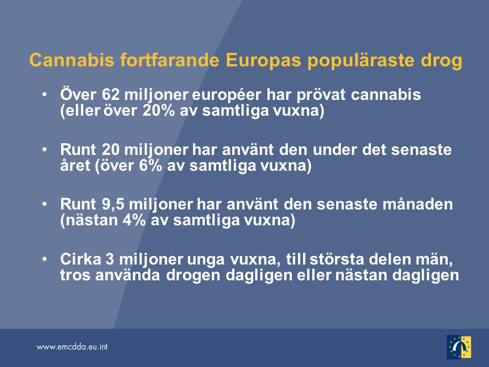 Cannabis fortfarande Europas populäraste drog