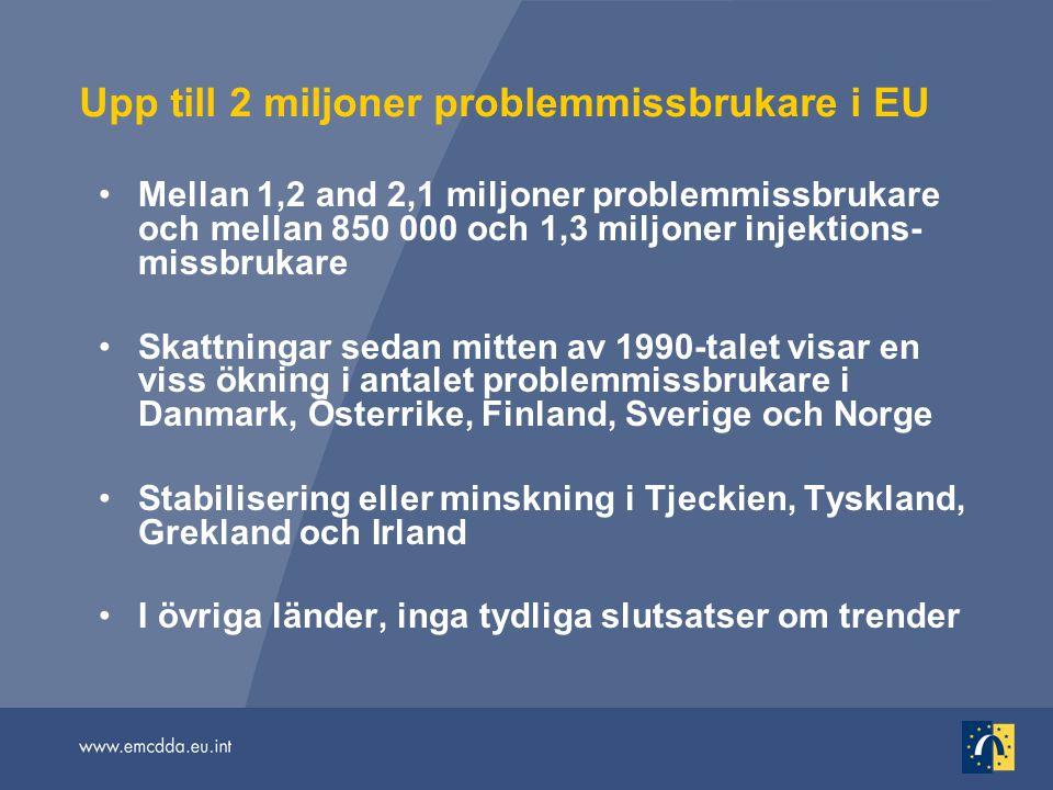 Upp till 2 miljoner problemmissbrukare i EU