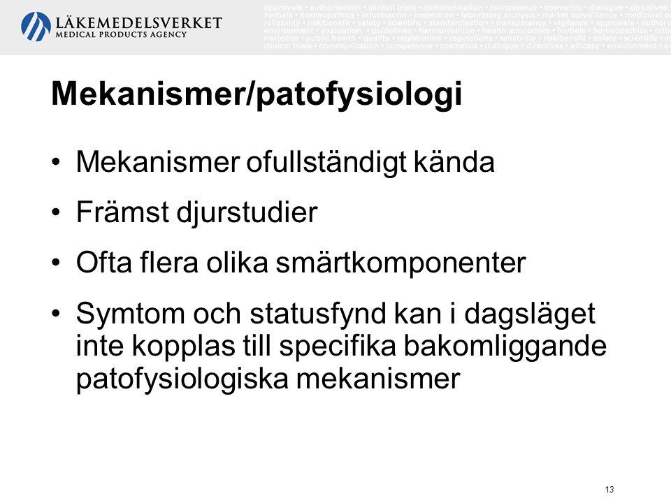 Mekanismer/patofysiologi