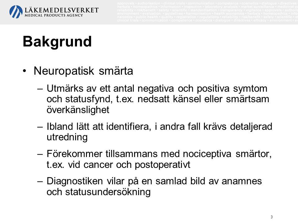 Bakgrund Neuropatisk smärta