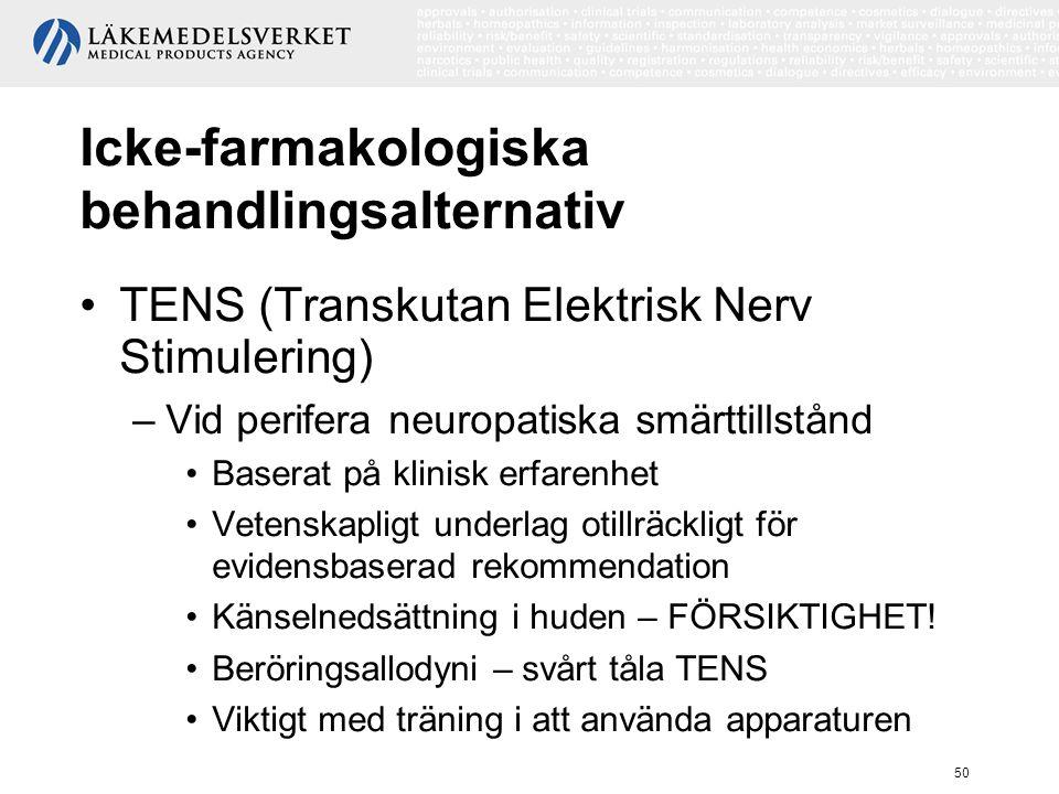 Icke-farmakologiska behandlingsalternativ