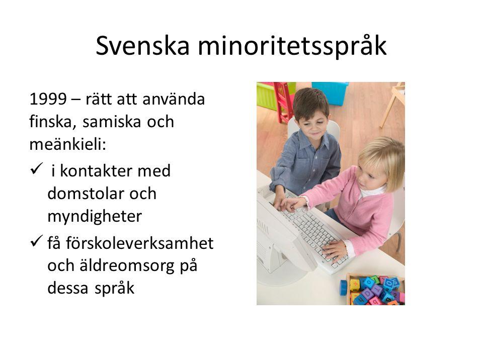 Svenska minoritetsspråk