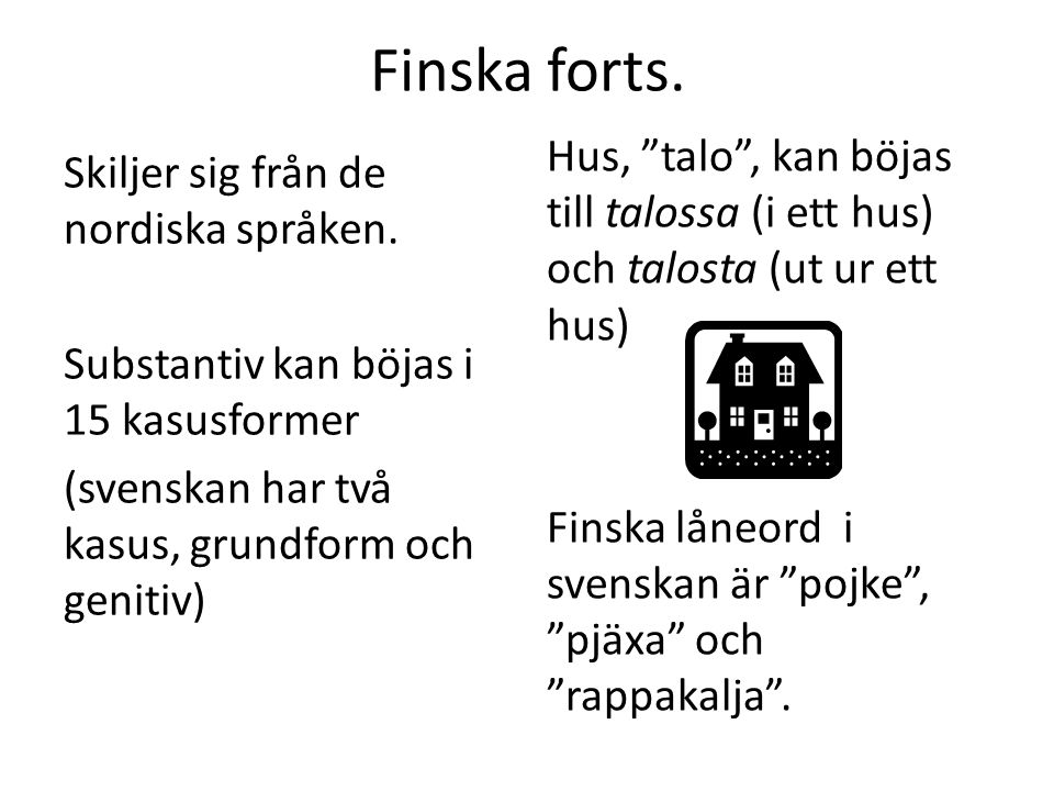 Finska forts.
