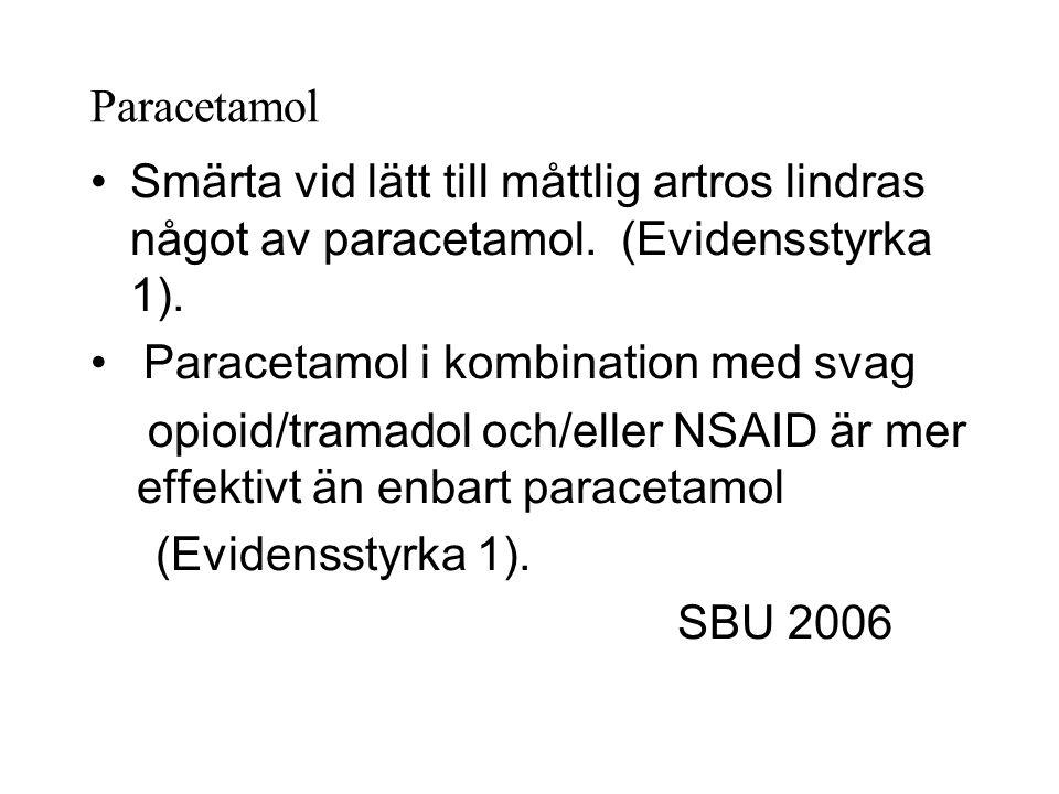 Paracetamol i kombination med svag