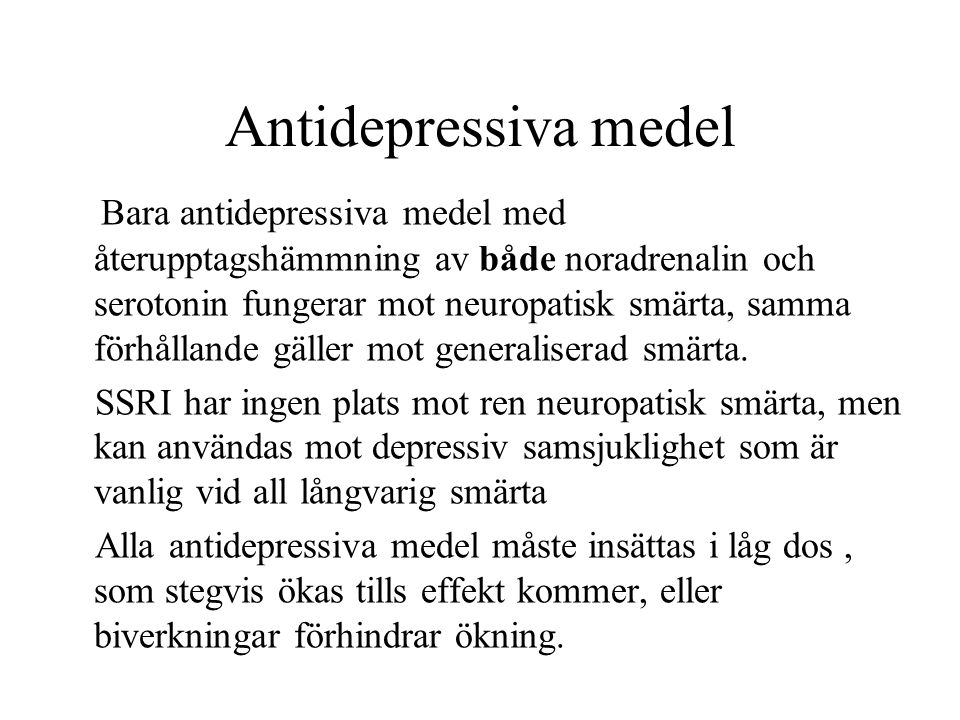 Antidepressiva medel